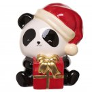 Christmas Panda Ceramic Money Box