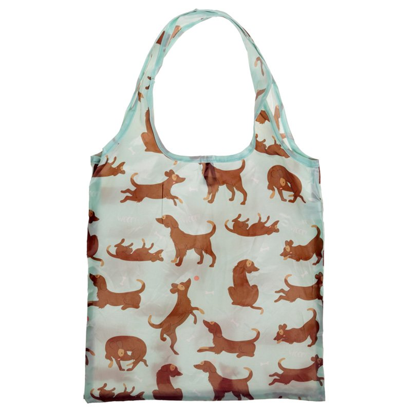 Fold Up Catch Patch Dog Shopping Bag with Holder
