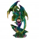 Crystal Geode Dragon Figurine