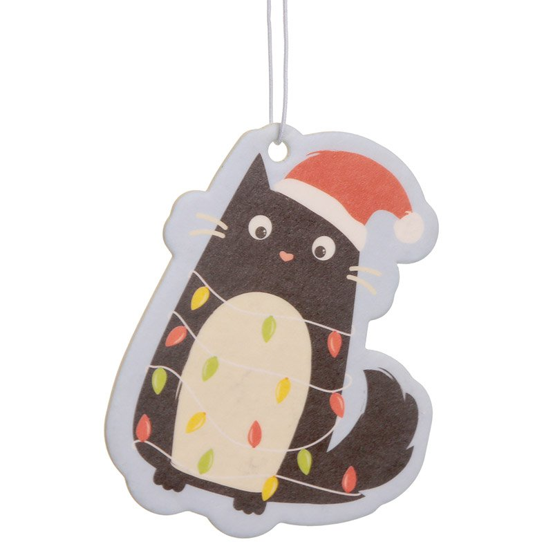 Nutmeg Scented Christmas Cat Air Freshener