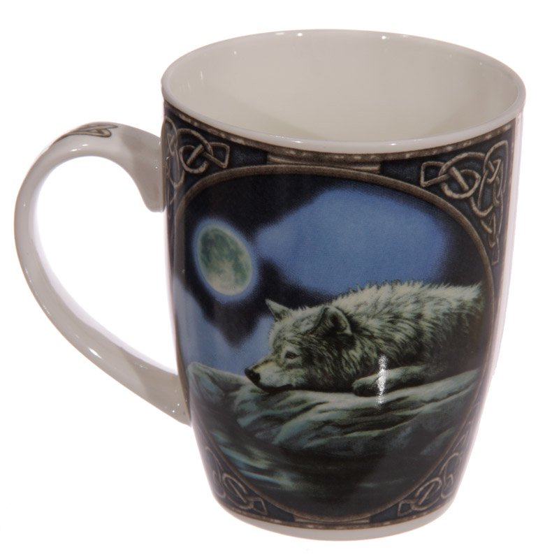 Wolf Lake Bone China Mug