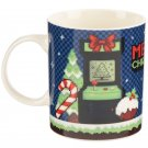 Christmas Bone China Mug - Retro Gaming Game Over