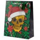 Metallic Skull Large Christmas Gift Bag