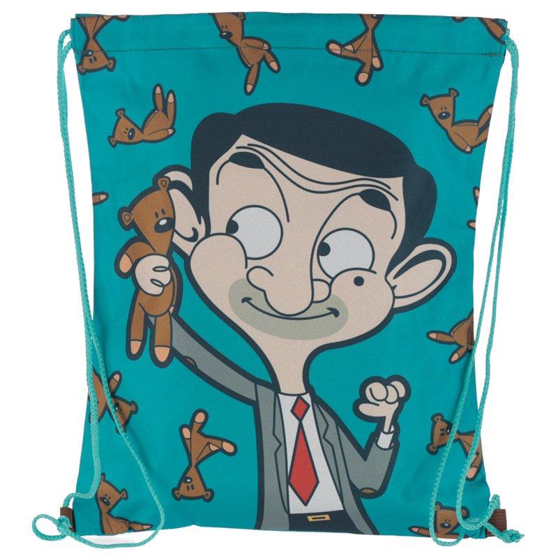 Drawstring Bag - Mr Bean and Teddy