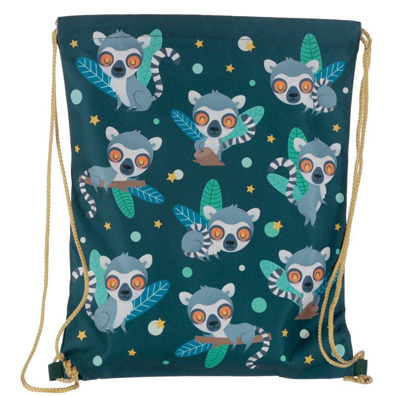 Drawstring Bag - Lemur Mob
