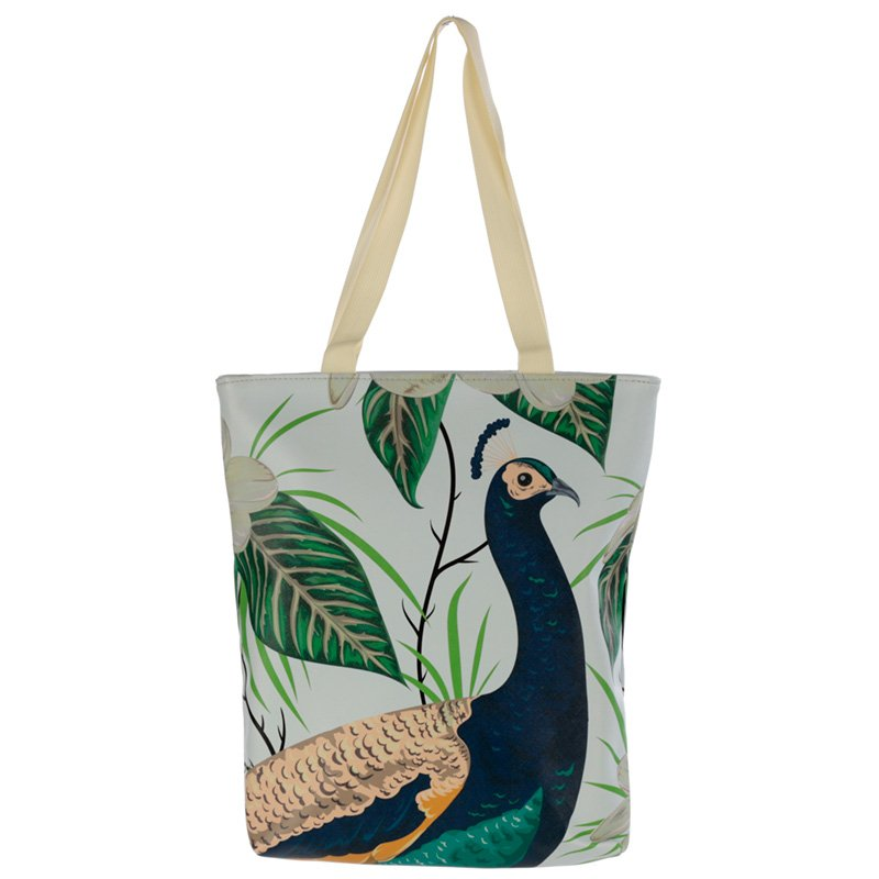 Peacock Tote Shopping Bag