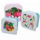 Flamingo Set of 3 Plastic Lunch Boxes