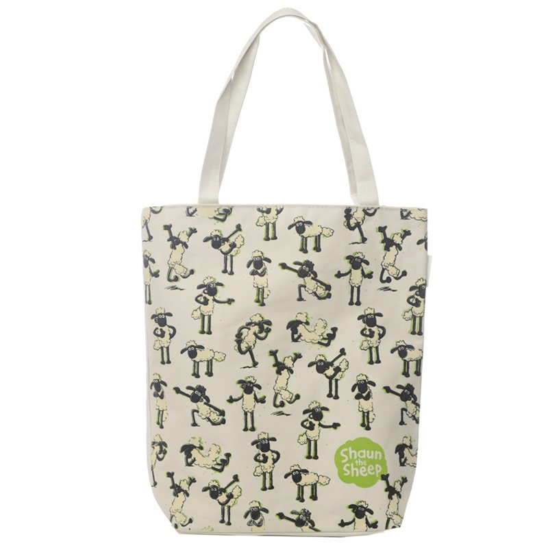 Cotton Zip Up Shopping Bag - Shaun the Sheep