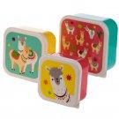 Llama Set of 3 Plastic Lunch Boxes