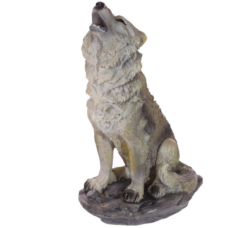 Wolf on Rocks Figurine