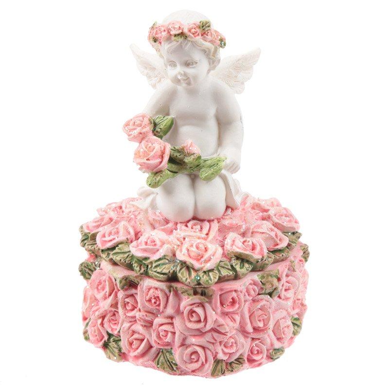 Rose Cherub - Rose Trinket Box