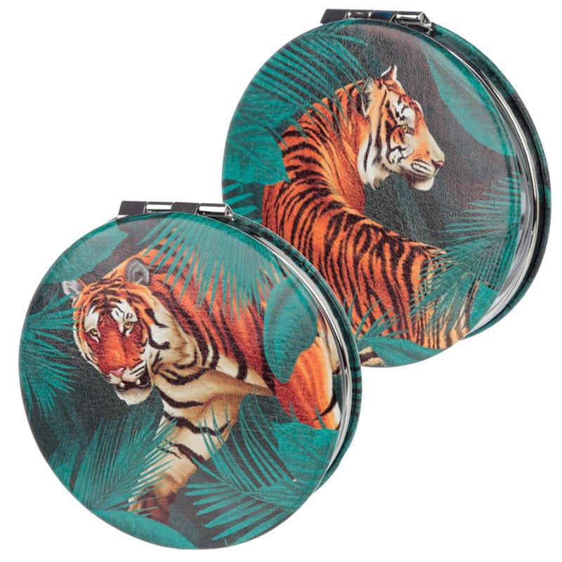 Compact Mirror - Big Cat Spots and Stripes