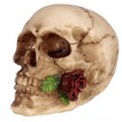 Gothic Small Skull and Rose Ornament