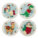 Set of 4 Coasters - Christmas Festive Friends