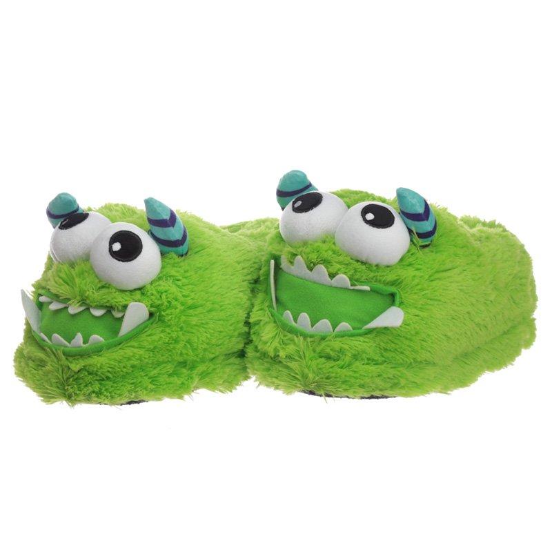 Green Monstarz Monster Plush Slippers