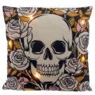 LED Cushion - Skull and Roses
