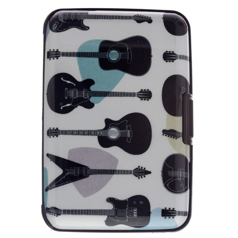 Contactless Protection Card Holder Wallet - Guitar