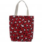 Cotton Zip Up Shopping Bag - Animal Print