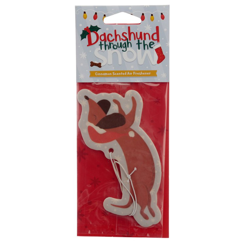Christmas Dachshund Cinnamon Scented Air Freshener