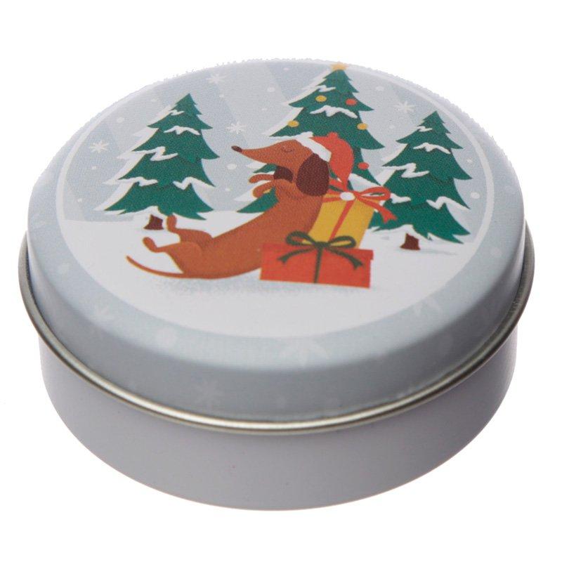 Lip Balm in a Tin - Christmas Dachshund Through The Snow (Assorted)