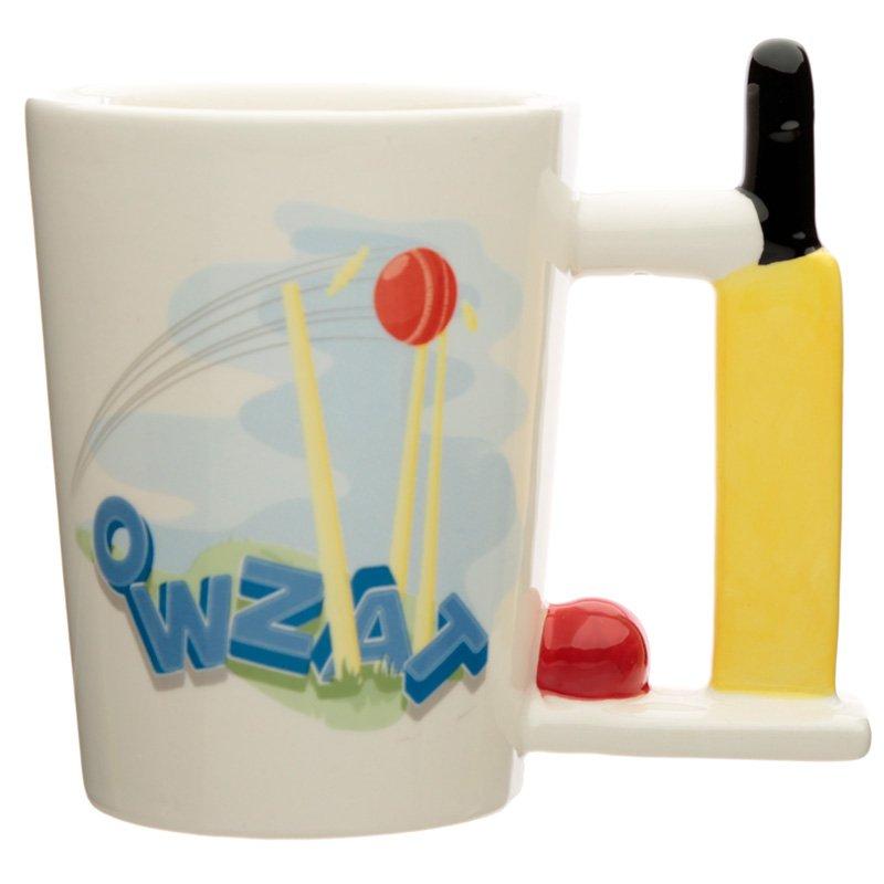 Ceramic Cricket Bat Handle Mug