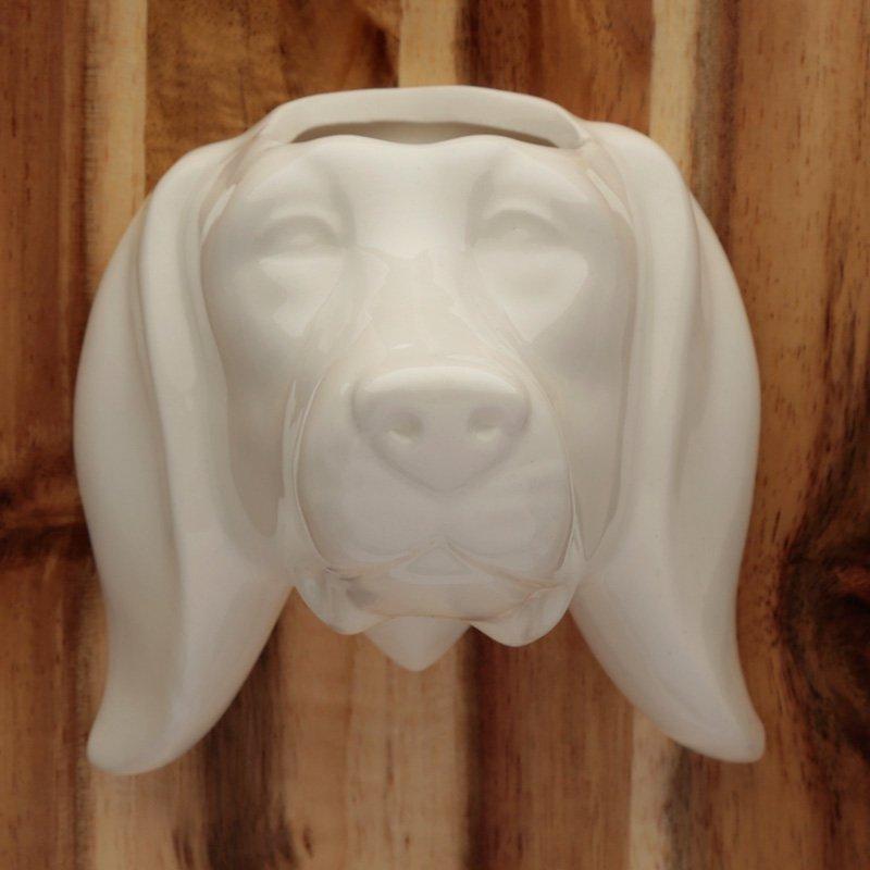Ceramic Indoor Wall Planter - Dog