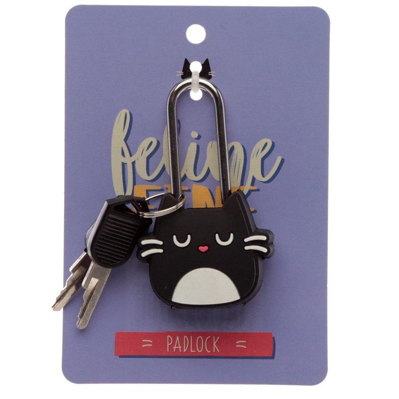 Cat Feline Fine PVC Padlock