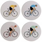 Set of 4 Novelty Coasters - Cycle Works Bicycle