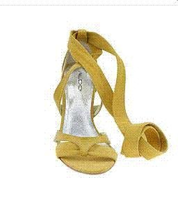 BRAND NEW YELLOW LEATHER STRAPPY STILETTO ALDO SHOES 6B