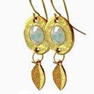 Opalite Swarovski Crystal Gold Plated Earrings - Elegant Earrings
