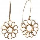 Beautiful Flower Earrings - Hanging Earrings - Hammered Flower