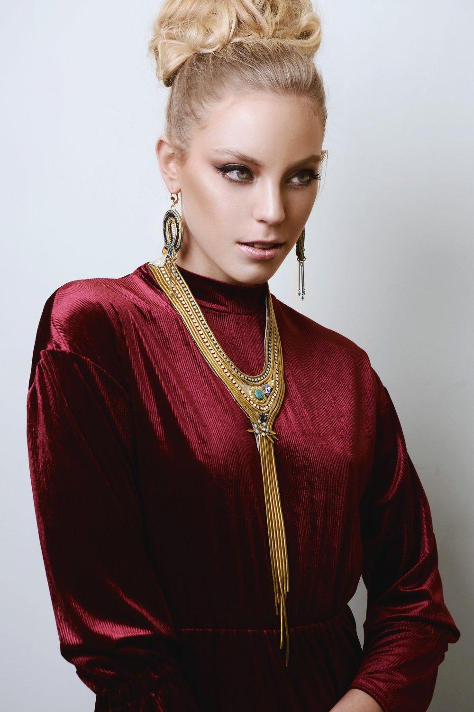 Aphrodite Unique necklace - Greek necklace, unique item,one of a kind, turquoise necklace
