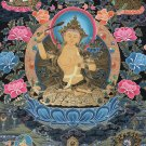 Genuine, Hand-painted Tibetan Thangka, Buddhist Art,  Manjushri Bodhisattva in Gold