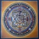 Kalachakra Mandala Original Tibetan Thangka Thanka Tanka Painting in Gold
