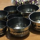 BUDDHA EYE ETCHED SINGING BOWLS SET OF 7 BOWLS WITH CUSHION AND MALLET