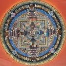 Kalachakra Mandala Original Tibetan Thangka Thanka Tanka Painting from Nepal