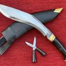 GENUINE BRITISH GURKHA OFFICIAL KHUKURI KUKRI KNIFE SERVICE NO.1-10.5-INCH HORN HANDLE