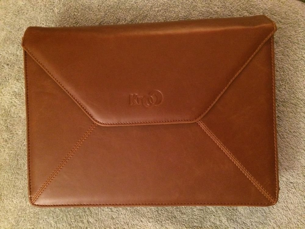 iPad Or Tablet Pouch Bag Case Cover Brown Leather