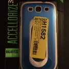 Metallic Protective Case w/ Stand for Samsung Galaxy S3 S III  Metallic Blue