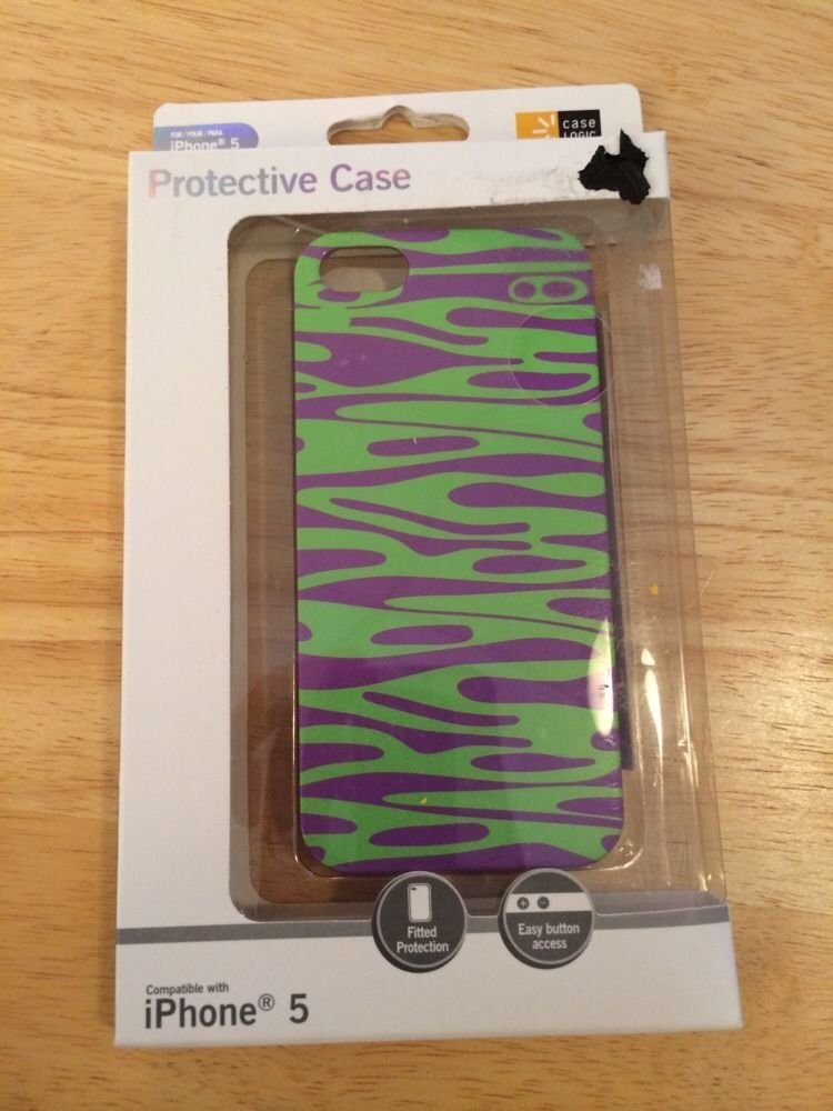 Case Logic CL5-1502 iPhone 5 5S Durable Protective Case  Green & Purple
