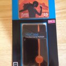 Apple iPod Touch 1 2 3 4th Leather HipCase w/ iTunes Card  Black & Orange  DLO