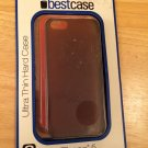 2 Pack Best Case Ultra Thin Hard Case For iPhone 5 & 5S  Smoke & Red