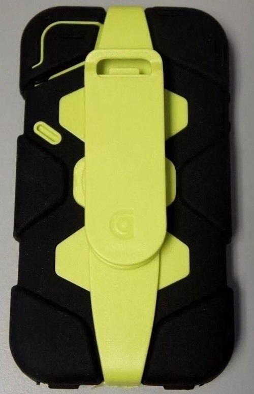 OEM Griffin Survivor Case for iPhone 4 4S Belt Clip  Swivel 360 Black/Lime Green