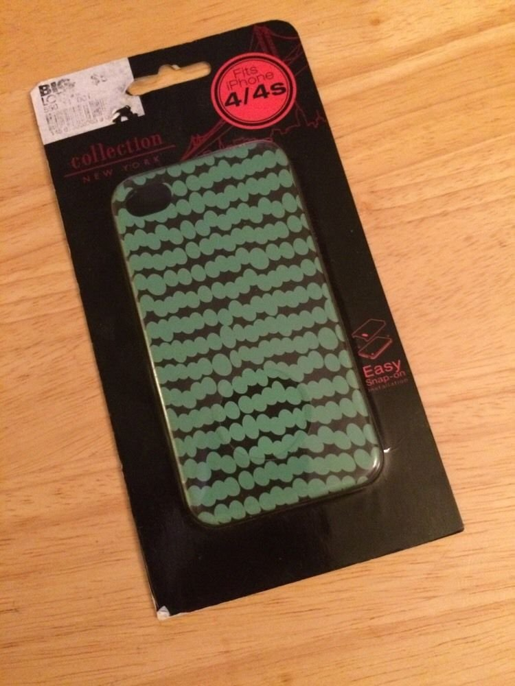 New York Collection Hardshell Case for Apple iPhone 4/4S Blue/Green Cover Matte