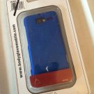 Motorola Droid Razr M Blue Body Glove Smooth Case Soft Touch Cover