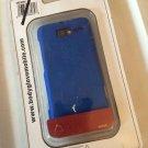 Motorola Droid Razr M Blue Body Glove Smooth Case Soft Touch Cover