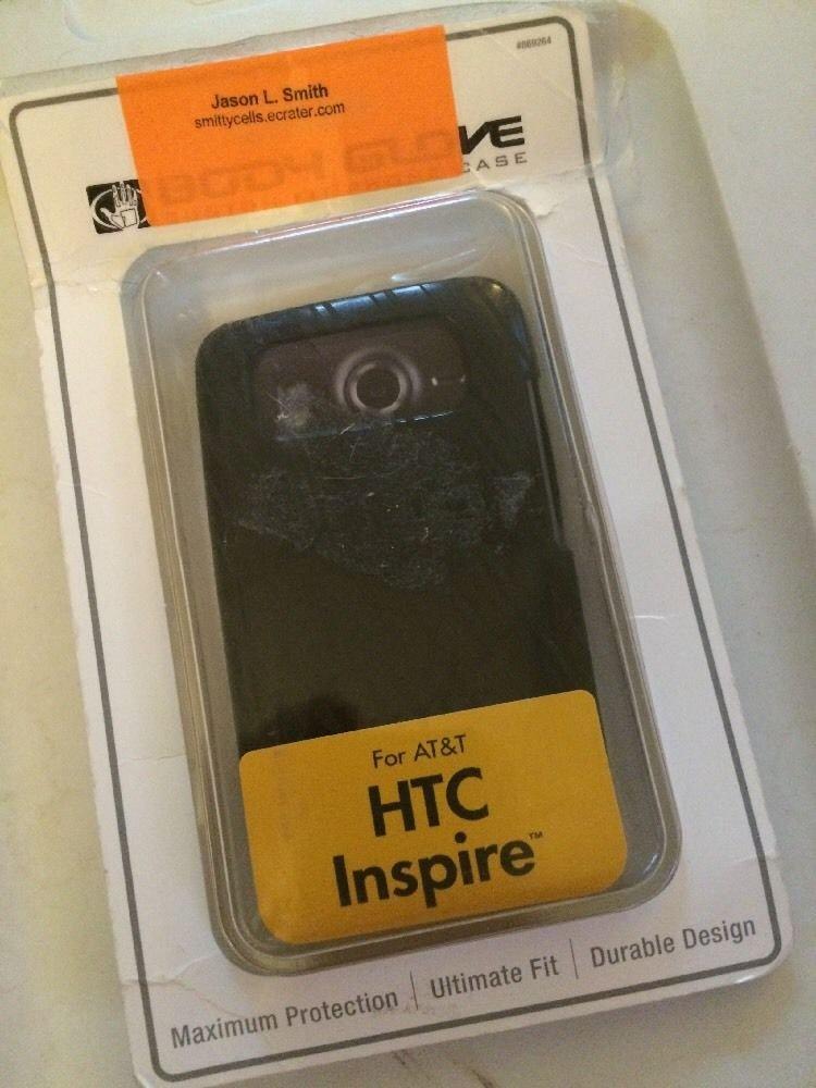 HTC Inspire Body Glove Grasp Case Cover  Black  Gel Case for ATT