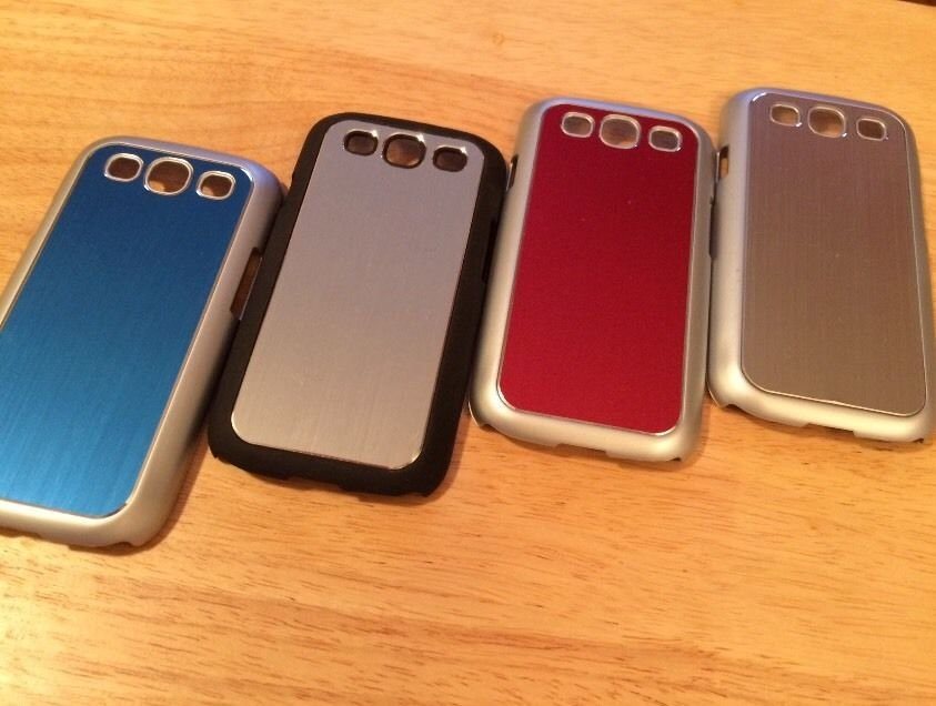Metallic Protective Case for Samsung Galaxy S3 SIII Chrome Black Red Blue