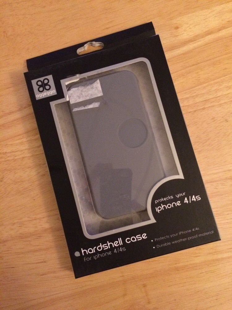 aggeggio  Hardshell Case for Apple iPhone 4/4S  Gray Case Cover Matte Finish