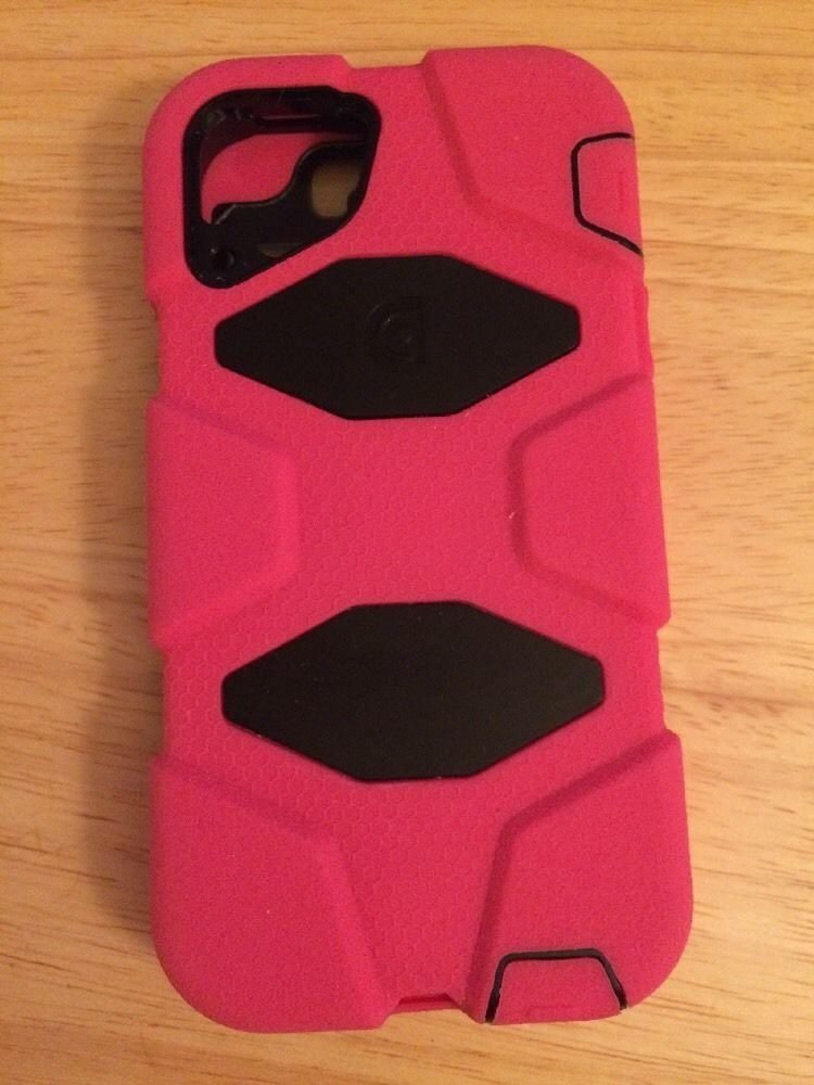OEM Griffin Survivor Case for iPhone 5 5S  Pink / Black Military Grade Read List